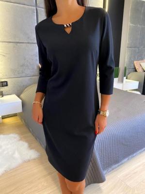 Czarna Klasyczna Sukienka 4641-315-C