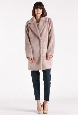 Delikatny płaszcz damski