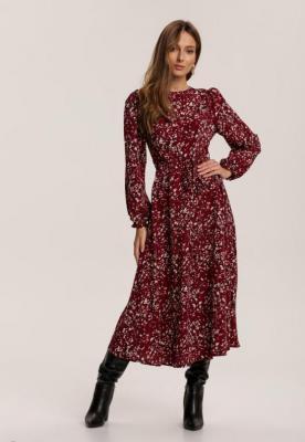Bordowa Sukienka Elinriane