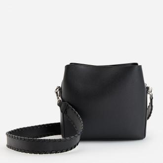 Reserved - Torebka hobo w minimalistycznym stylu - Czarny