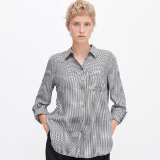 Reserved - Koszula w pepitkę - Szary