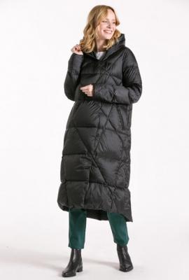 Bardzo długi pikowany płaszcz