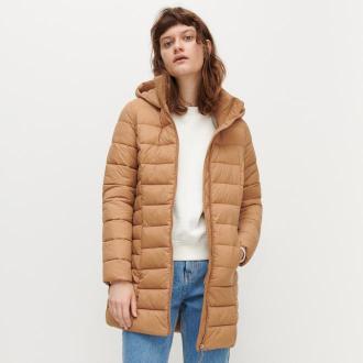 Reserved - Pikowany płaszcz - Beżowy