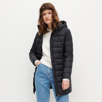 Reserved - Pikowany płaszcz - Czarny