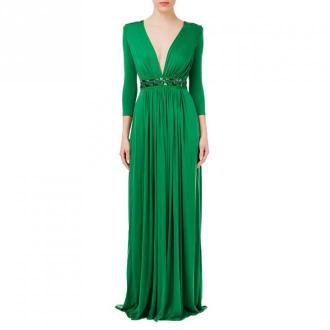 Elisabetta Franchi Sukienka Sukienki Zielony Dorośli Kobiety Rozmiar: