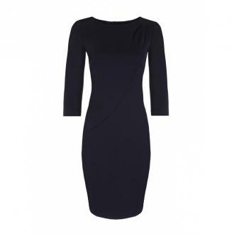 Nife sukienka z asymetrycznymi draperiami Sukienki Niebieski Dorośli