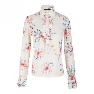 Nife Shirt Bluzki i koszule Biały Dorośli Kobiety Rozmiar: 42