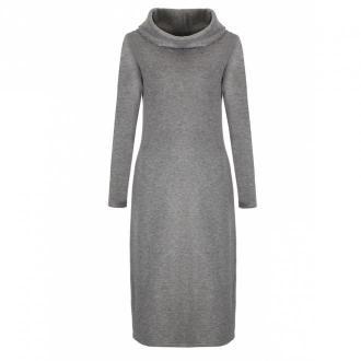 Nife Dzianinowa sukienka z golfem Sukienki Szary Dorośli Kobiety