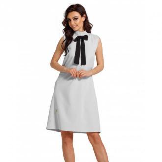 Lemoniade Sukienka z kokardą przy szyi L296 Sukienki Szary Dorośli