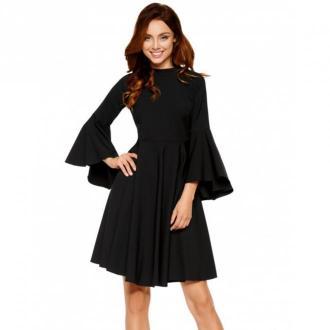 Lemoniade Sukienka z rozszerzanymi rękawami Sukienki Czarny Dorośli