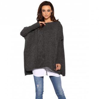 Sweter wełniany ponczo