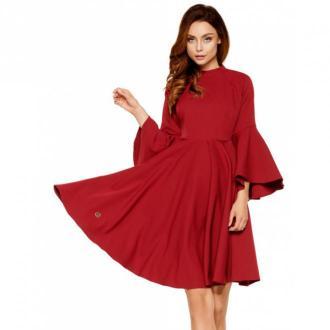 Lemoniade Sukienka z rozszerzanymi rękawami Sukienki Czerwony Dorośli