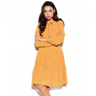 Lemoniade Sukienka z kokardą przy szyi Sukienki Brązowy Dorośli