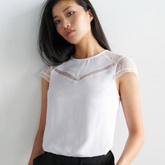Mohito - Wiskozowa bluzka z koronką -