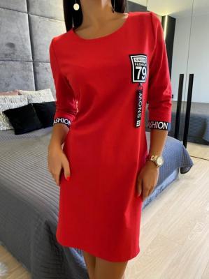 Czerwona Sportowa Sukienka 4717-96-B