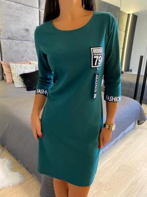 Zielona Sportowa Sukienka 4717-96-F
