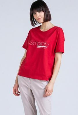 T-shirt z subtelnym napisem