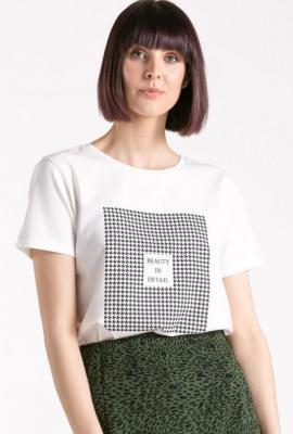 T-shirt z geometrycznym wzorem