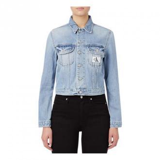 Calvin Klein Dżinsyowa kurtka Kurtki Niebieski Dorośli Kobiety