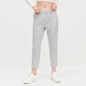 Reserved - Spodnie z elastyczną talią - Jasny szary