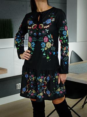 Sukienka w Kwiaty Cleo 4774-49