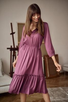 Wiskozowa sukienka z falbaną