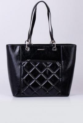 Elegancka torba z pikowanym panelem z dżetami
