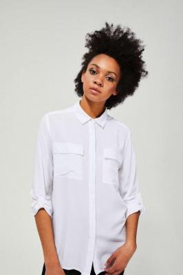 Koszula z wiskozy z kieszeniami