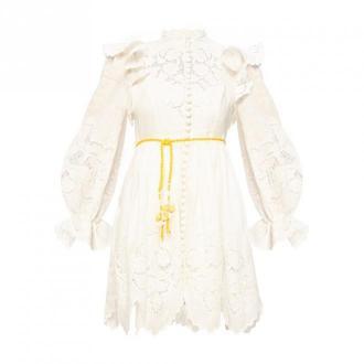 Zimmermann Sukienka z ażurowym wzorem Sukienki Beżowy Dorośli Kobiety