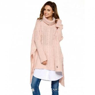 Lemoniade Sweter wełniany z golfem Ls215 Swetry i bluzy Różowy Dorośli