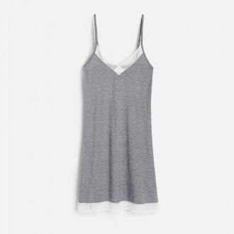 Reserved - Koszula nocna z bawełną organiczną - Czarny