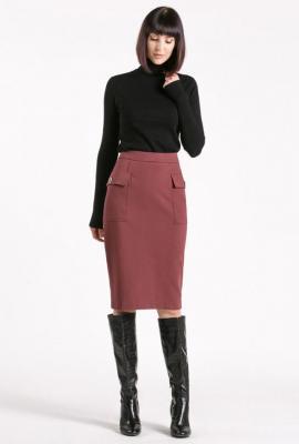 Ołówkowa spódnica z kieszeniami po bokach
