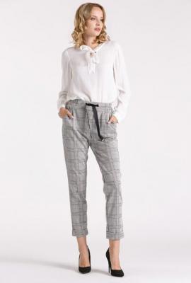 Eleganckie spodnie 7/8 w kratę