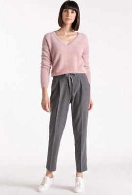 Spodnie w kant wiązane na sznurek