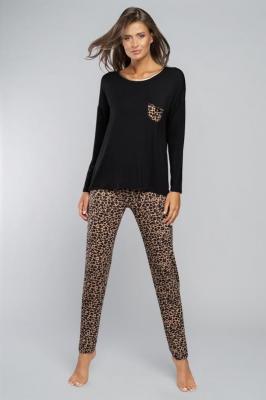 Italian Fashion Eila dł.r. dł.sp. Nocna piżama - czarny/druk
