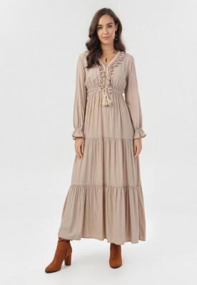 Beżowa Sukienka Phisvia