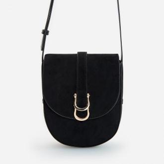 Reserved - Torebka saddle bag z klapką - Czarny