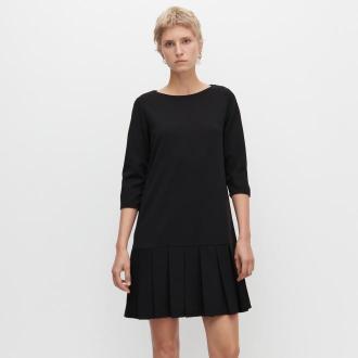 Reserved - Sukienka z zakładkami - Czarny