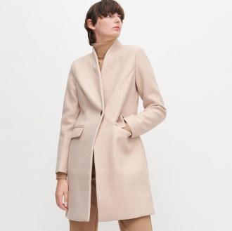 Reserved - Gładki płaszcz - Beżowy
