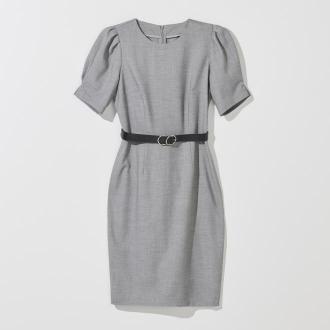 Mohito - Sukienka z bufkami Eco Aware - Szary
