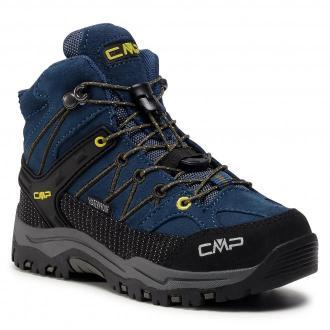 Trekkingi CMP - Kids Rigel Mid Trekking Shoe Wp 3Q12944  Blue Ink/Yellow 10MF