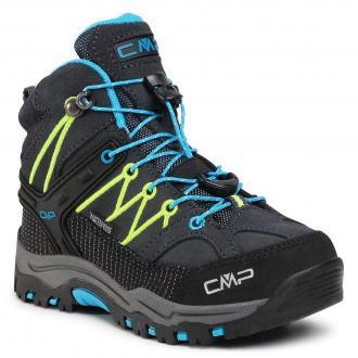 Trekkingi CMP - Kids Rigel Mid Trekking Shoe Wp 3Q12944  Antracite/Yellow Fluo 34UF