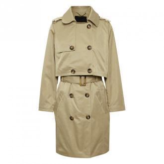 Karen by Simonsen BlingKB Trenchcoat Płaszcze Beżowy Dorośli Kobiety