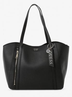 GUESS - Damska torba shopper z torebką wewnętrzną, czarny