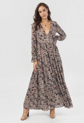 Beżowa Sukienka Ariesneth