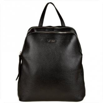 Vezze czerny plecak ze skóry naturalnej