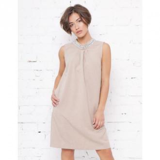 Piu Sukienka Melania Sukienki Beżowy Dorośli Kobiety Rozmiar: M