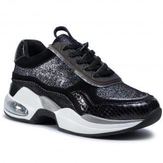 Sneakersy KARL LAGERFELD - KL61771 Black Glitter W/Silver