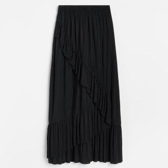 Reserved - Plisowana spódnica - Czarny