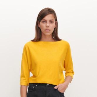 Reserved - Sweter basic - Żółty